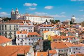 The old Alfama quarter in Lisbon