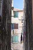 stock photo of split ends  - Pavement end narrow streets and courtyards of Split - JPG
