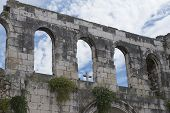 architectural ruins of Croatia, Split, square Diocletian