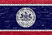 Flag Of Erie Painted On Brick Wall