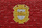Flag Of La Serena Painted On Brick Wall