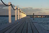 Timber Boardwalk Over Coastal Pool