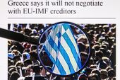 Photo Of The Flag Of Greece In The Elections Through A Magnifying Glass On The Website Usa Today