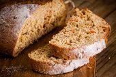 Fresh Rye Bread Closeup