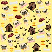 stock photo of pug  - a background with pug puppy in it - JPG