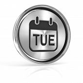 pic of tuesday  - Tuesday metallic icon - JPG
