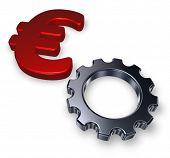 Euro Symbol And Gear Wheel