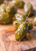 Green Olives Marinated With Coriander