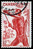 Vintage  Postage Stamp. Bowman, Cameroun.