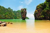 stock photo of kan  - A small lagoon in Ko Khao, Thailand ** Note: Visible grain at 100%, best at smaller sizes - JPG