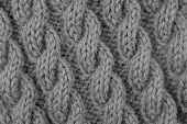 Closeup Of Cable Stitch Knitting
