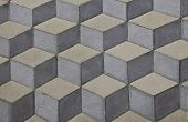 foto of paving  - Flat paving blocks with a 3d look - JPG
