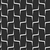 Geometrical Ornament With White And Gray Vertical Lines Net.