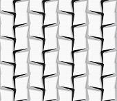 Geometrical Ornament With White And Gray Vertical Lines