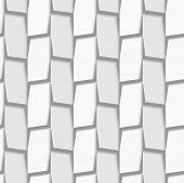 Geometrical Ornament With White And Light Gray Vertical Lines Net