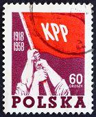 Postage Stamp Poland 1958 Red Flag