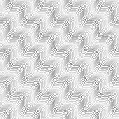 Repeating Ornament Diagonal Wavy On White