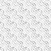 Repeating Ornament Of Dotted Wavy Diagonal Lines
