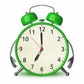 Green Alarm Clock Character