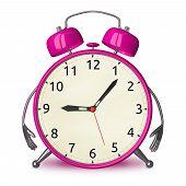 Pink Alarm Clock Character