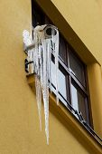 Thawing icicles on security camera