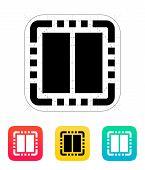 Dual Core CPU icon. Vector illustration.