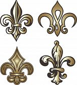 image of fleur de lis  - fleur de lis emblem for your label - JPG