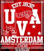 Amsterdam University City Man T shirt Vector Graphic Design