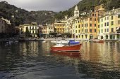 Portofino Bay Large View. Color Image