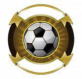 Soccer ball banner