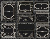 pic of classic art  - Set of Ornate vector frames - JPG