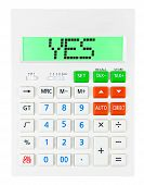 Calculator With Yes