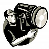 Film Crew Spotlight Fresnel Light Retro