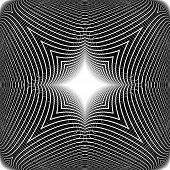Design Monochrome Warped Grid Pattern