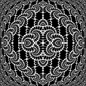 Design Monochrome Decorative Interlaced Pattern
