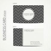 Vintage creative simple monochrome business card template for your design. Vector design eps10. Line