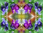 an Abstract Pattern Of Blue Flowers