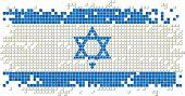 image of israeli flag  - Israeli grunge tile flag - JPG