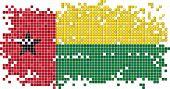 Guinea-Bissau grunge tile flag. Vector illustration