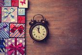 Gift Boxes And Alarm Clock