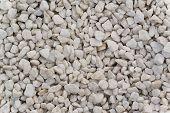 White Gravel Stone Texture Pattern