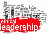 foto of ethics  - Ethical leadership word cloud image with hi - JPG