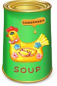 foto of condensation  - Can of condensed Magic chicken soup - JPG