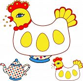 picture of hatcher  - Magic chicken warmer for teapot - JPG