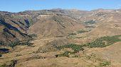 stock photo of ethiopia  - Landscape in Amhara province close to Lalibela - JPG