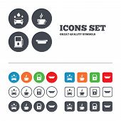 pic of petrol  - Petrol or Gas station services icons - JPG