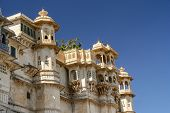 stock photo of india gate  - Details of the magnificent Udaipur Palace - JPG