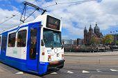 picture of tram  - Amsterdam - JPG