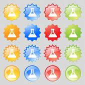 image of conic  - Conical Flask icon sign - JPG