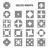 image of celtic  - Square celtic knots - JPG